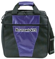 Brunswick Gear III Single Tote Purple Bowling Bags