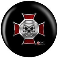 OnTheBallBowling Michael Graham Design Iron Cross Skull Bowling Balls