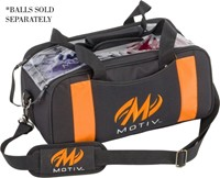 Motiv Clear View Double Tote Black/Orange Bowling Bags