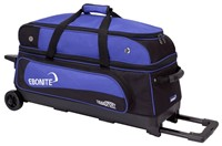 Ebonite Transport Triple Roller Black/Blue Bowling Bags