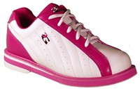 3G Womens Kicks White/Pink Bowling Shoes