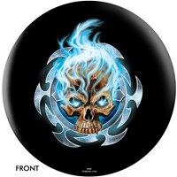 OnTheBallBowling Michael Graham Design Flaming Blue Skull Main Image