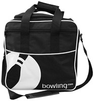 Bowling.com Single Tote Black/White Bowling Bags