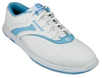 Brunswick Womens Silk White/Light Blue Bowling Shoes