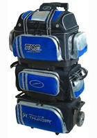 Storm Rolling Thunder 6 Ball Roller Blk/Blu/Sil Bowling Bags