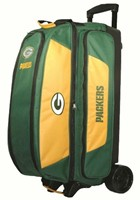 KR NFL Triple Roller Green Bay Packers Bowling Bags