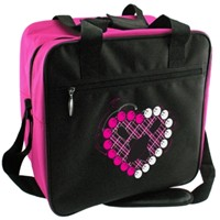 Classic Pink Heart Single Tote Bowling Bags
