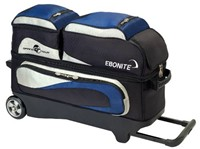 Ebonite Grand Tour Edition 3 Ball Roller Nvy/Sil Bowling Bags