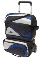 Ebonite Grand Tour Stackable 4 Ball Roller Nvy/Sil Bowling Bags
