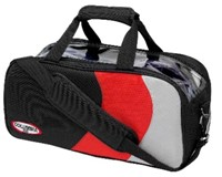 Columbia Pro Series 2 Ball Tote Black/Red/Silver Bowling Bags
