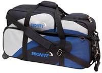 Ebonite Team Triple Tote/Roller Blue/Silver Bowling Bags