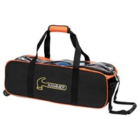 Hammer Triple Tote/Roller Black/Orange Bowling Bags