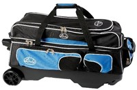 Linds Deluxe 3 Ball Roller Black/Blue Bowling Bags