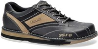 Dexter Mens SST 6 LZ Black/Stone Left Hand Bowling Shoes