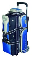 Storm Rolling Thunder 3 Ball Roller Blk/Blu/Sil Bowling Bags