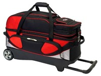 Columbia Pro Series 3 Ball Roller Red/Silver/Black Bowling Bags