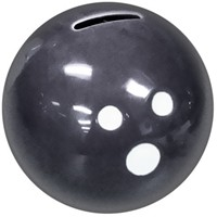 Ceramic Bowling Ball Bank-Black