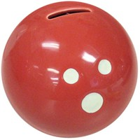 Ceramic Bowling Ball Bank-Red