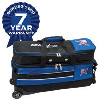 KR Royal Flush Slim Triple Roller With Shoe Pocket Bowling Bags