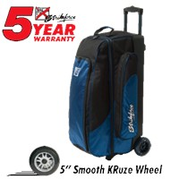 KR Cruiser Smooth Triple Roller Midnight Bowling Bags