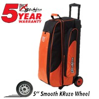 KR Cruiser Smooth Triple Roller Orange Bowling Bags