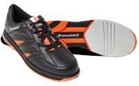 Brunswick Mens Warrior Orange Bowling Shoes