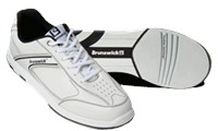 Brunswick Mens Flyer White/Black Bowling Shoes