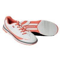 Brunswick Womens Curve White/Coral Bowling Shoes