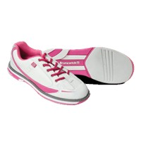 Brunswick Womens Curve White/Hot Pink Bowling Shoes