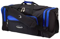 Ebonite Conquest 2 Ball Tote Black/Blue Bowling Bags