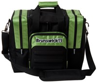 Brunswick Flash Single Tote Black/Lime Bowling Bags