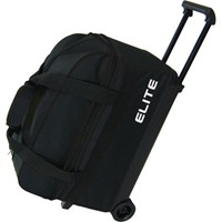 Elite Basic Double Roller Black Bowling Bags