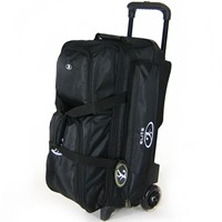 Elite Dimension Triple Roller Black Bowling Bags