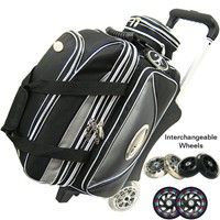 Elite Double Platinum w/ Interchangeable Wheels Bowling Bags