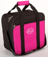 Linds Basic Single Tote Black/Hot Pink Bowling Bags