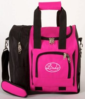 Linds Deluxe Single Tote Black/Hot Pink Bowling Bags