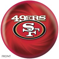 KR Strikeforce San Francisco 49ers NFL Ball Bowling Balls