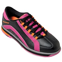 Brunswick Womens Raven Black/Pink/Orange Bowling Shoes