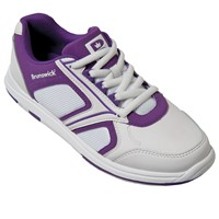 Brunswick Womens Spark White/Purple Bowling Shoes