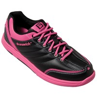 Brunswick Womens Diamond Black/Hot Pink Bowling Shoes