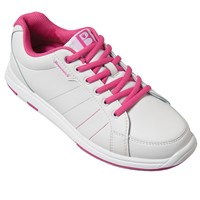 Brunswick Womens Satin White/Hot Pink Bowling Shoes