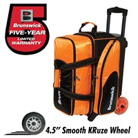 Brunswick Flash C Double Roller Orange Bowling Bags