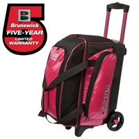 Brunswick Gear Two Ball Roller Pink Bowling Bags