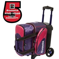 Brunswick Flash C Single Roller Purple/Pink Bowling Bags