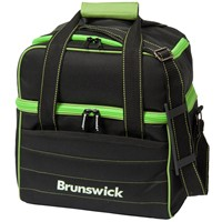 Brunswick Kooler C Single Tote Black/Lime Bowling Bags
