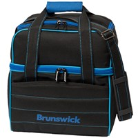 Brunswick Kooler C Single Tote Black/Royal/Lt Blue Bowling Bags