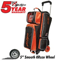 KR Orange KRush Triple Roller Bowling Bags