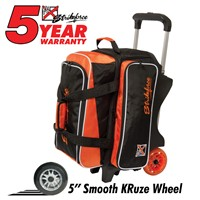 KR Orange KRush Double Roller Bowling Bags
