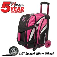 KR Strikeforce Cruiser Smooth Double Roller Pink/White/Black Bowling Bags