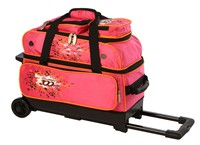 Columbia Team C300 2 Ball Roller Pink/Orange Bowling Bags